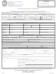 "Form VS-142.3 ""Mail Application for Birth / Death Record"" - City of Mission, Texas"