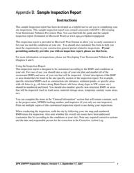 "Appendix B ""Stormwater Construction Site Inspection Report"""