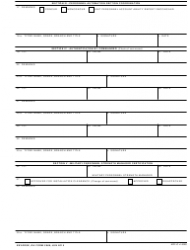 DA Form 3986 Personnel Asset Inventory, Page 2