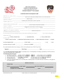 "Form B-45A ""Overtime Inspection Request Form"" - New York City"