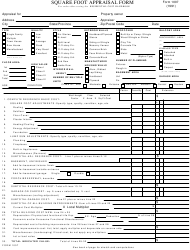 "Form 1007 ""Square Foot Appraisal Form"""