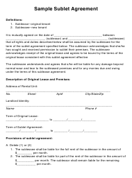 """Sublet Agreement Template"" - New Jersey"