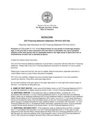 "Form UCC1AD ""Ucc Financing Statement Addendum"" - Tennessee"