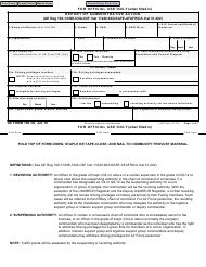 "AE Form 190-1K ""Report of Administrative Action"""