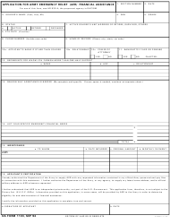 DA Form 1103 Application for Army Emergency Relief