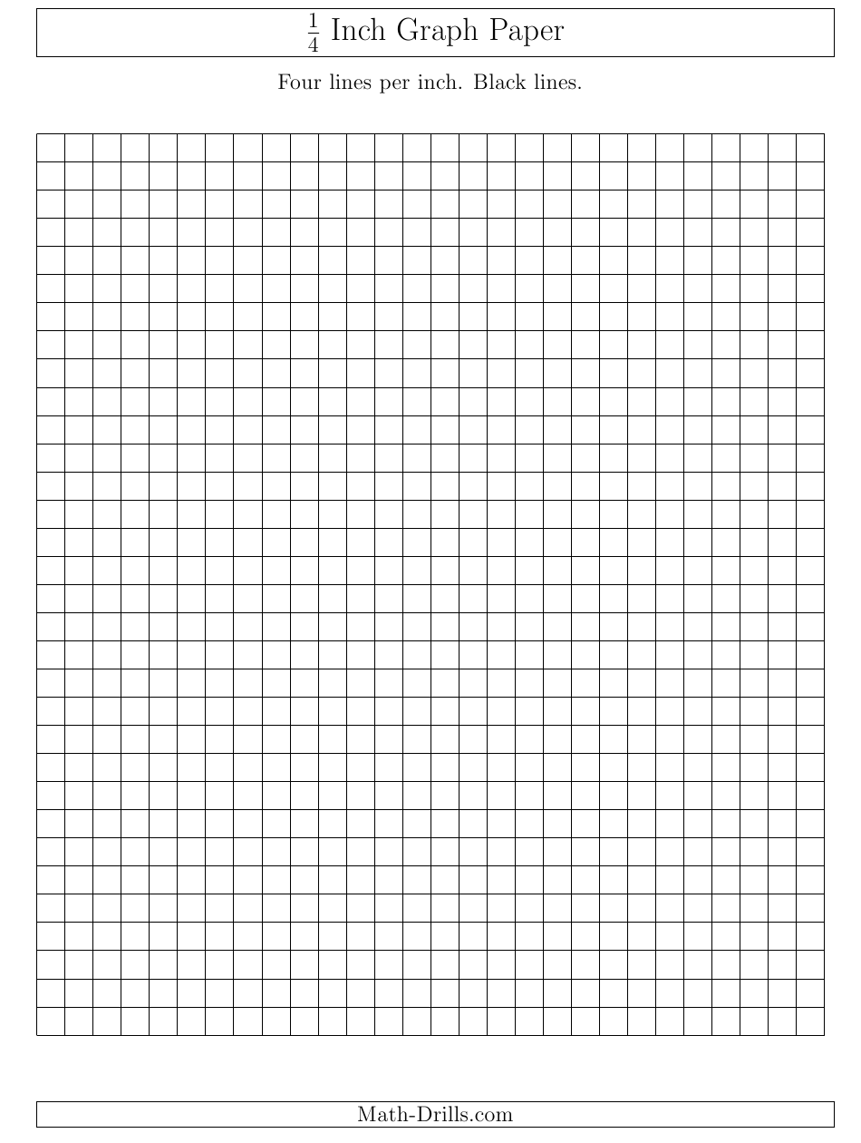 1 4 Inch Lined Graph Paper Template Download Printable Pdf Templateroller