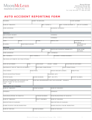 """Auto Accident Reporting Form - Mclean Hallmark Insurance Group Ltd."""
