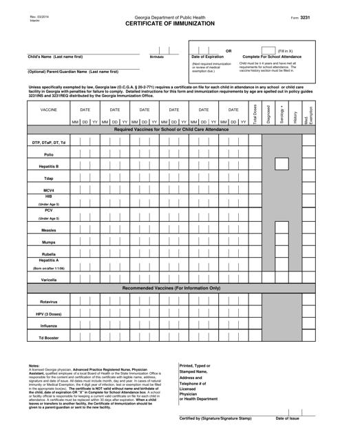 Form 3231  Printable Pdf