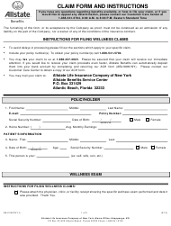 "Form ABJ10367NY-5 ""Wellness Claim Form - Allstate"" - Florida"