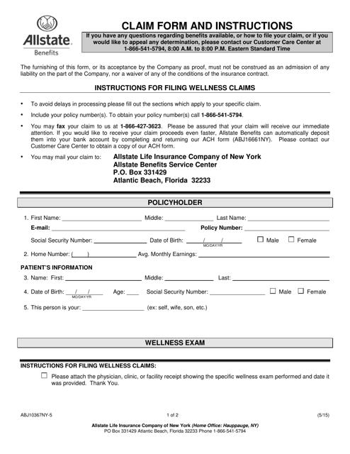 Form ABJ10367NY-5 Printable Pdf