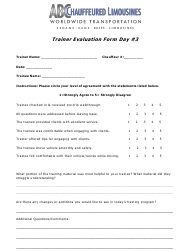"""Trainer Evaluation Form Day #3 - Abc Worldwide Transportation"""