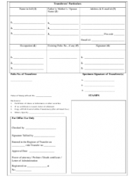 """""""Securities Transfer Form"""" - India, Page 2"""
