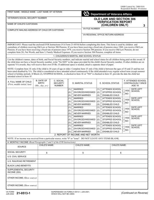 VA Form 21-0513 Printable Pdf