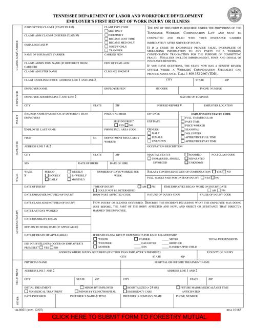 Form LB-0021  Printable Pdf