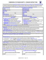 """Standard Contract Form"" - Massachusetts"