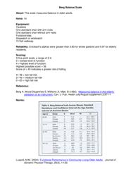 """Berg Balance Scale Form"""