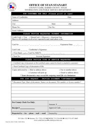 Form B-02-19 Dba Form - Harris County, Texas