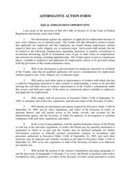 Affirmative Action Form