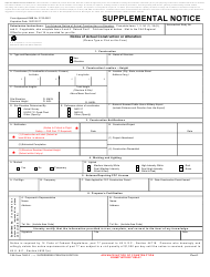 FAA Form 7460-2 Supplemental Notice