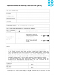 Application for Maternity Leave Form - Co-op