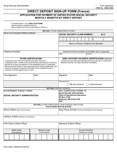 Form 1199-FR  Printable Pdf