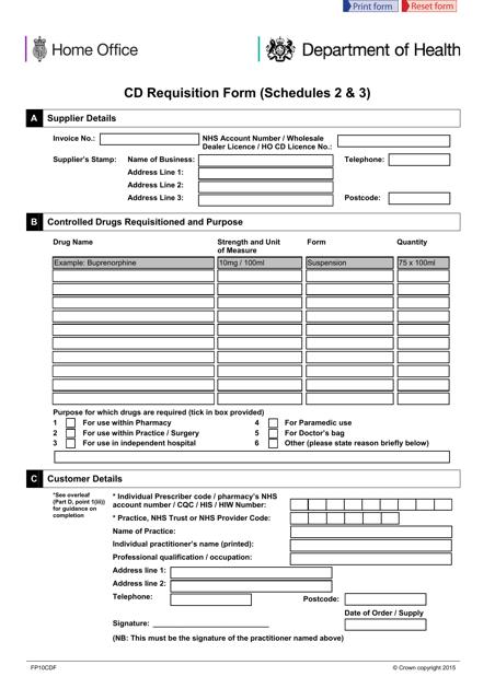 Form FP10CDF Printable Pdf