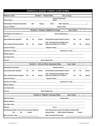 """Personal Injury Verification Form"""