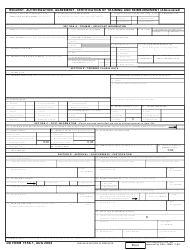 DD Form 1556-1 Request, Authorization, Agreement, Certification of Training and Reimbursement (Abbreviated)