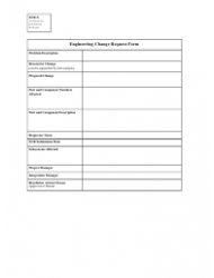Engineering Change Request Form