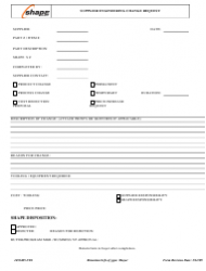 Form 1453405-VEI Supplier Engineering Change Request Form - Shape Corp.