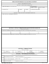 DD Form 2799 Employee Performance Plan and Results Report, Page 5