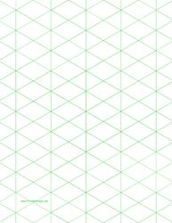 Large Green Half-Square Triangle Paper