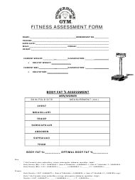 """Fitness Assessment Form - Powerhouse Gym"""