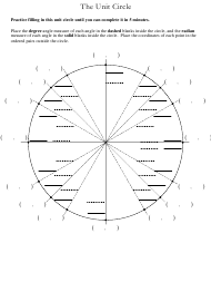 """Unit Circle Worksheet"""
