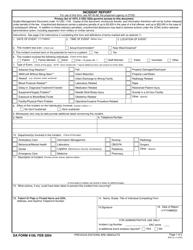 DA Form 4106 Incident Report
