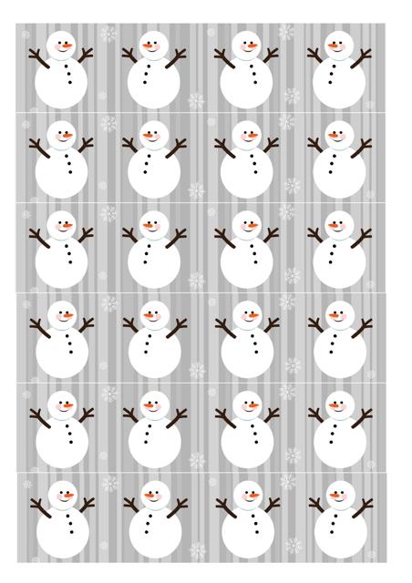 Snowman Christmas Paper Chain Template Download Printable PDF ...