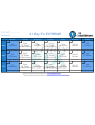 21 Day Fix Extreme Workout Plan Template - The Exercise Movement