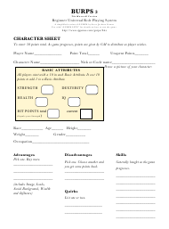 """Burps Character Sheet (Simplified Version of Gurps)"""