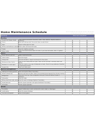 Quarterly Home Maintenance Schedule Template