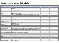 """Quarterly Home Maintenance Schedule Template"""