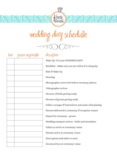 Wedding Hair And Makeup Schedule Template Saubhaya Makeup