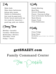 Daily, Weekly and Monthly Cleaning and Home Checklist Template