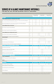 """""""Service at a Glance Maintenance Intervals Schedule for Vnm, Vnl, Vmx and Vah Vehicle Models - Volvo"""""""