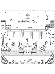 """Ducks' Date Happy Valentine's Day Coloring Sheet"""