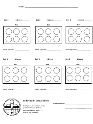 """Volleyball Lineup Sheet Template - Volleyball Officials Association"" - New York"