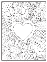 """Doodle Heart Coloring Sheet"""