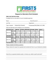 Request Template For Alternative Work Schedule - First Five Ventura County