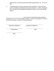 4 10 Hour Workday Schedule Agreement Template Page 2