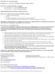 """Post 9/11 Gi Bill Checklist Form"""