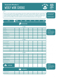 Domestic Worker's Weekly Work Schedule Template - My Fair Home